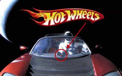 Ook Hot Wheels Tesla de ruimte in